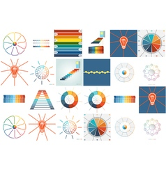 Templates for Infographics set 9 10 vector image vector image