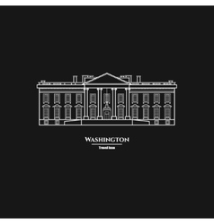 Washington united states white house icon 1 vector