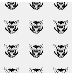 Pattern stencil boar headunique technique vintage vector