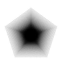 Pentagon halftone geometric shapes five vector
