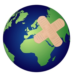 Heal the world concept vector image