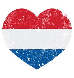 Netherlands holland heart retro flag vector