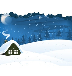 Lonely forest hut vector image