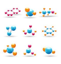 3d chemical molecules vector