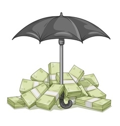 Umbrella protecting bundles vector
