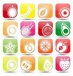Fruits icons2 vector