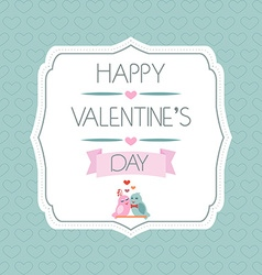 Congratulations to the valentines day label birds vector