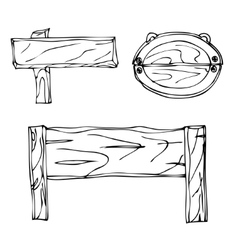 Sketch signpost vector