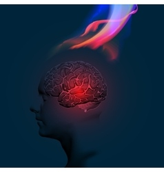Human brain abstract theme vector