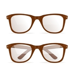 Glasses brown hipster vector