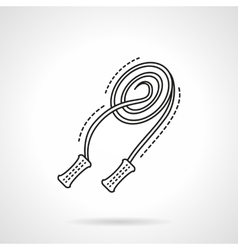 Skipping rope line flat line icon vector