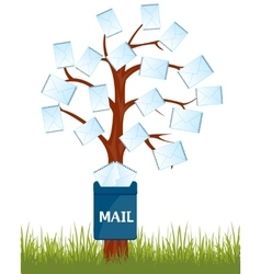 Mailbox on tree vector