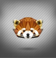 abstract triangle polygonal Lesser panda vector image vector image
