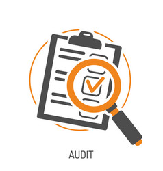 audit and test flat icon set vector image vector image
