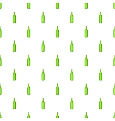 Beer bottle pattern cartoon style vector