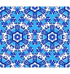 Blue star flower kaleidoscope background vector