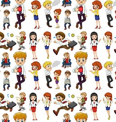 Business people in different actions vector image
