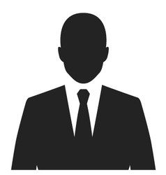 businessman black web icon vector image