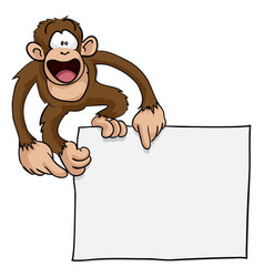 crazy cute monkey sign vector image