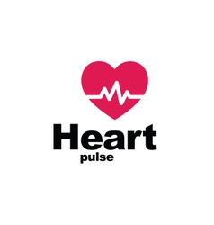 Heart pulse - symbol vector image