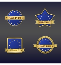 Made in European Union vector image