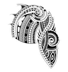 Maori style sleeve tattoo template vector