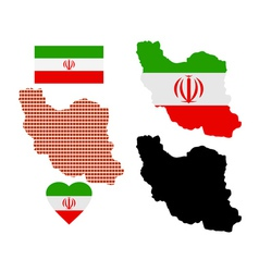 map of Iran vector image