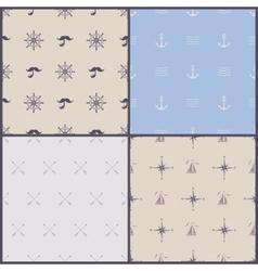 marine symbol seamless pattern vector image vector image