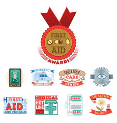 Medical emblem vintage tag vector