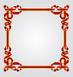 Ribbon frame vector