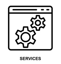 services vector image vector image