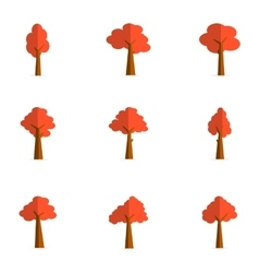Set of tree design vector image