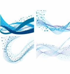 set of water backgrounds vector image vector image