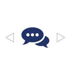 Speech bubbles dialog icon vector
