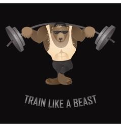 Train like a beast vector