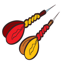 two darts dart clipart color on a white background vector image vector image