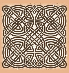 vintage grunge celtic mandala background vector image