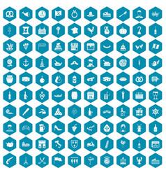 100 alcohol icons sapphirine violet vector