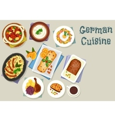 German cuisine christmas dishes for dinner icon vector
