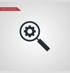 Magnifier icon simple vector
