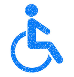 Disabled person grunge icon vector