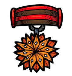 Cartoon image of award icon badge symbol vector