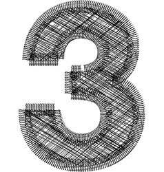 Font number 3 vector