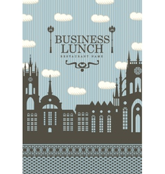 Business lunch town vector image