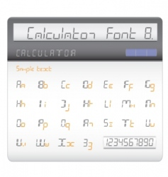 Calculator font vector
