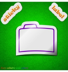Document folder icon sign symbol chic colored vector