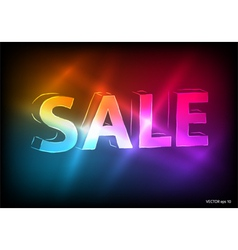 Sale marketing effect neon dark background vector