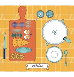 Kitchen still life set vector