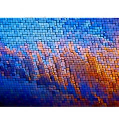 Warped mosaic background vector