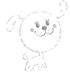 Puppy gray 1 vector